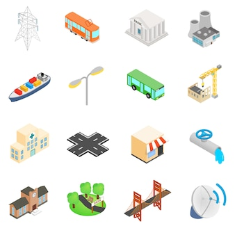 Infrastructuur icons set