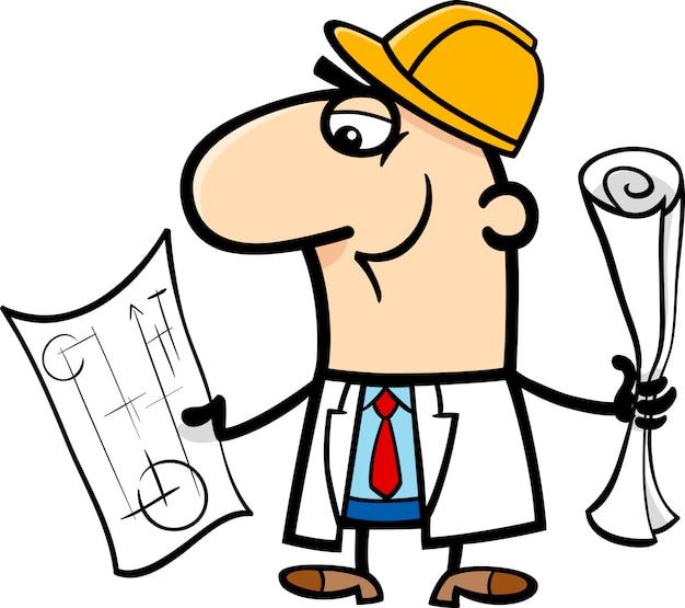 Ingenieur cartoon afbeelding