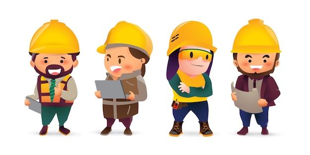 Ingenieur man en dame in werk outfit.