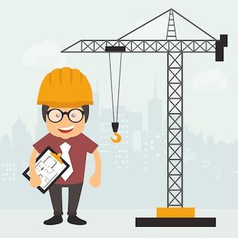 Ingenieur op de bouwplaats