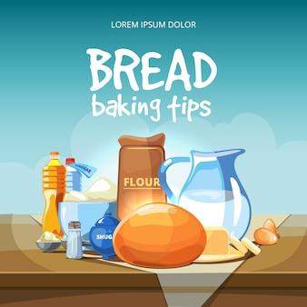 Ingrediënten voor het bakken van voedsel