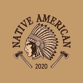 Inheems amerikaans embleemontwerp