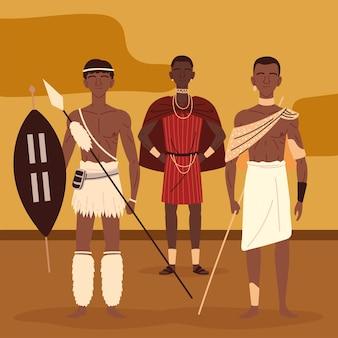Inheemse afrikaanse mannen