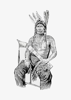 Inheemse amerikaanse man