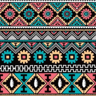 Inheemse etnische naadloze patroon thema vector kunst illustratie