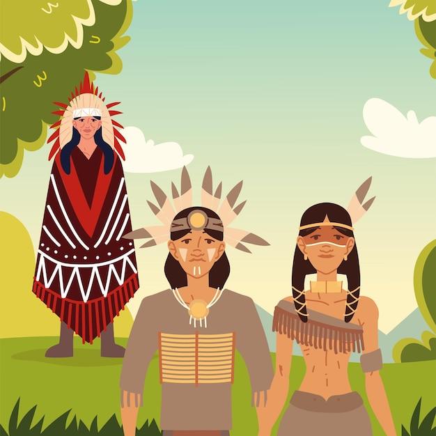 Inheemse familie mensen