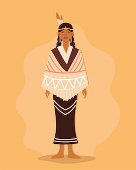 Inheemse jonge vrouw