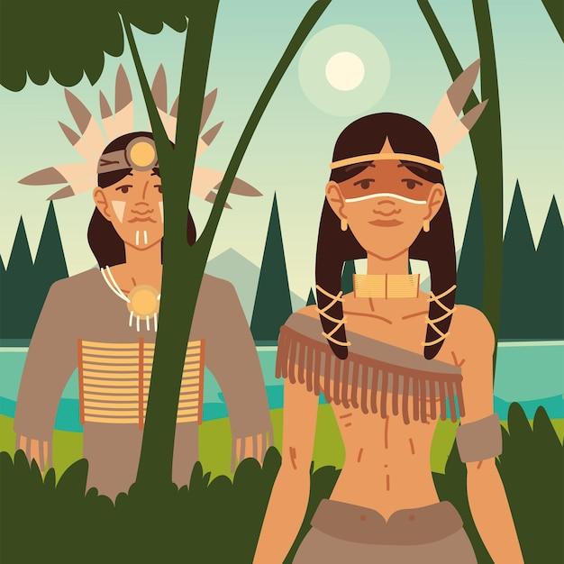 Inheemse man en vrouw