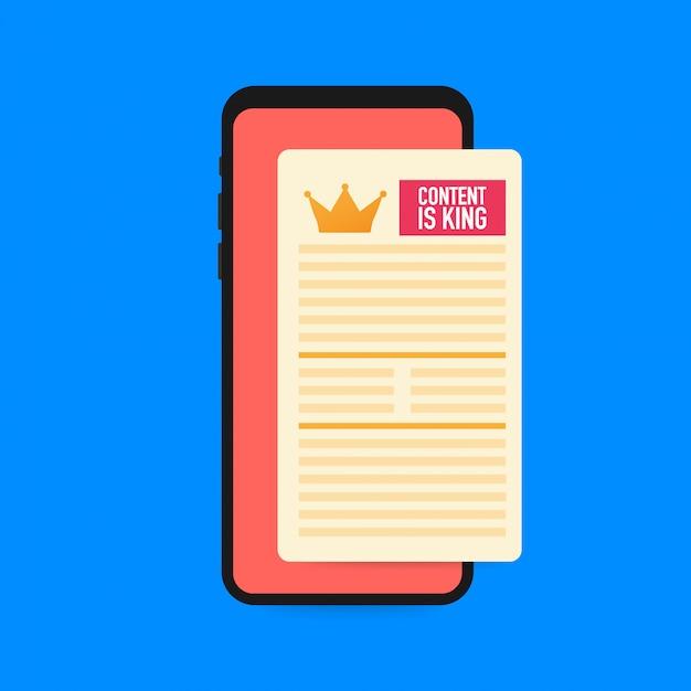 Inhoud is koning op het smartphonescherm.