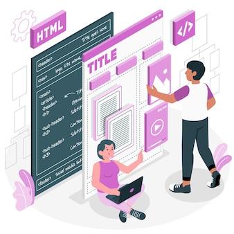Inhoud structuur concept illustratie