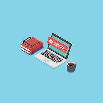 Inhoudsupdates voor videostreaming concept