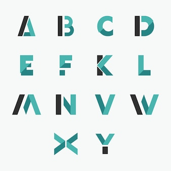 Initial letter logo template