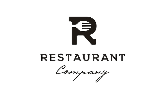 Initial / monogram r voor restaurant-logo