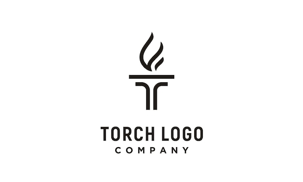 Initial t for torch-logo