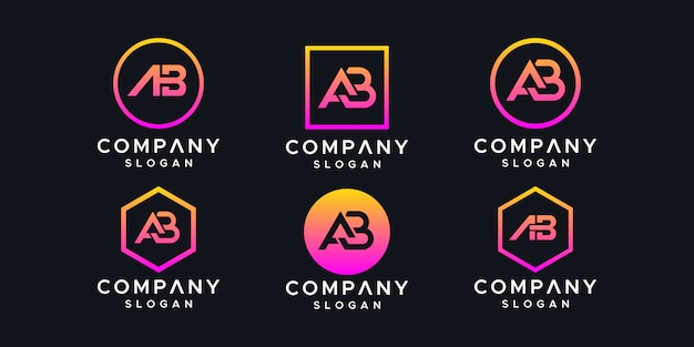 Initialen ab logo ontwerpsjabloon.