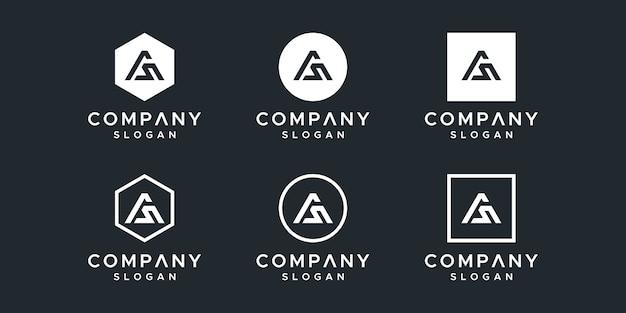 Initialen als logo-ontwerpsjabloon.