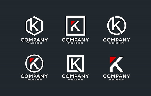 Initialen k logo ontwerpsjabloon.