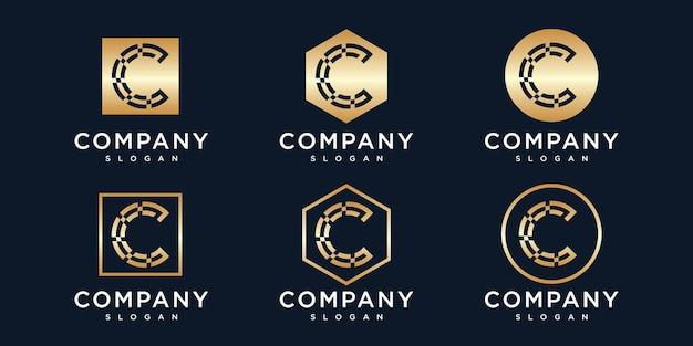 Initialen letter c logo sjabloon