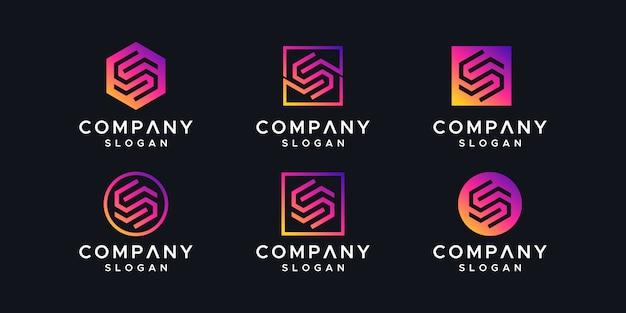 Initialen logo ontwerpsjabloon.