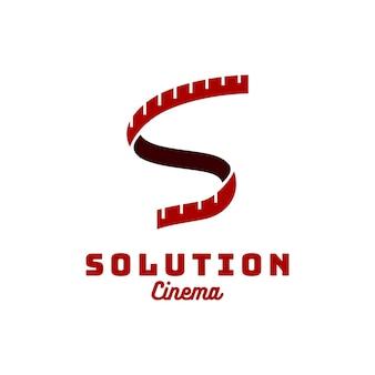 Initialen s reels ribbon camera logo design