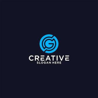 Initialen sg gs logo grafisch ontwerp voor ander gebruik is perfect