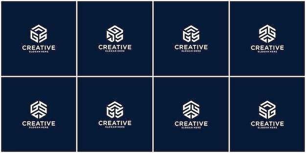 Initialen sg-logo met een gouden stijlkleur voor het bedrijf