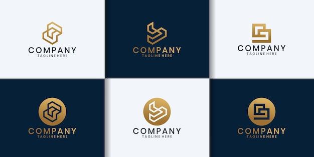 Initiële b-technologie logo-ontwerpinspiratie