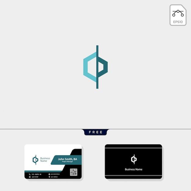 Initiële cd-logosjabloon, krijg een gratis visitekaartje