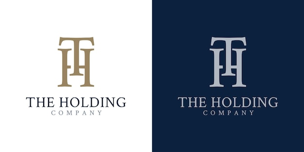 Initiële t en h logo ontwerpconcept