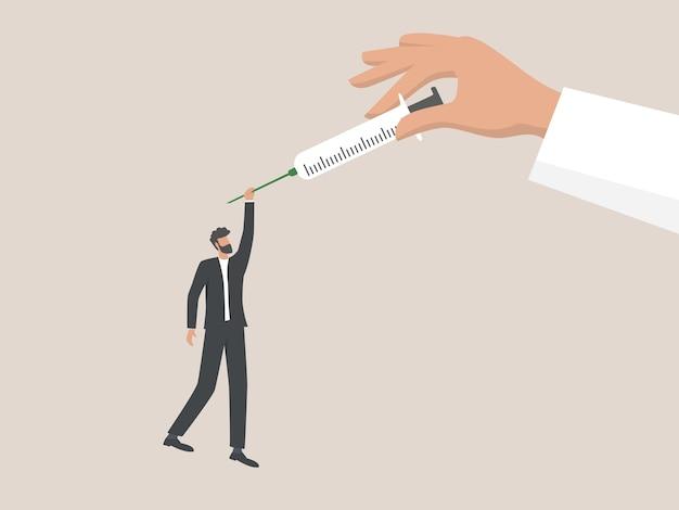 Injectie om de pandemie van het coronavirus te stoppen