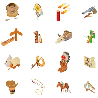 Injun icon set