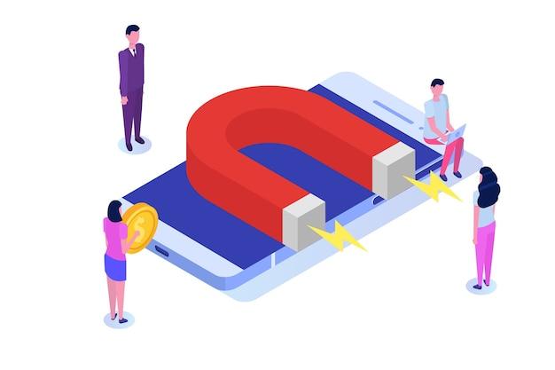 Inkomende, online of toestemmingsmarketing, verkoopgeneratie.