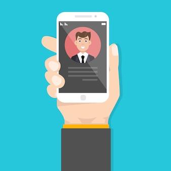 Inkomende oproep op de smartphone