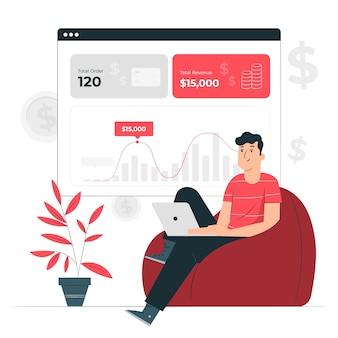 Inkomsten concept illustratie