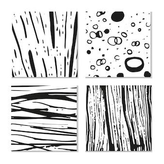 Inkt hand getekende texturen. kan worden gebruikt voor behang, achtergrond van webpagina's, scrapbooking, feestdecoraties, t-shirtontwerpen, kaarten, prenten, ansichtkaarten, posters, uitnodigingen, verpakkingen enzovoort.
