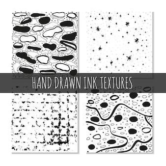 Inkt handgetekende texturen kan worden gebruikt voor behang achtergrond tshirt ontwerpen kaarten afdrukken