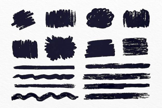 Inkt penseelstreek collectie