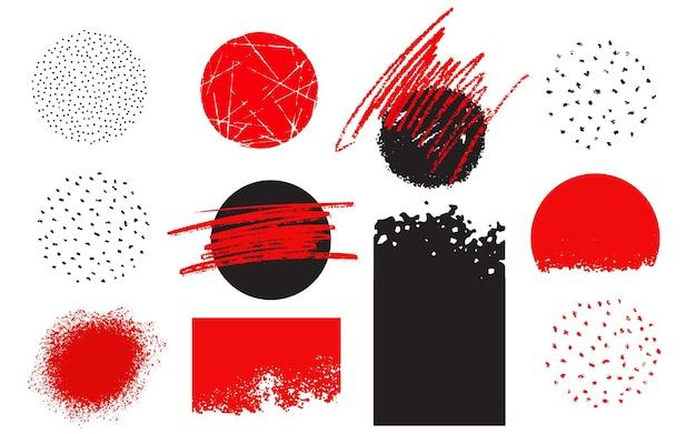 Inkt penseelstreek grunge banner collectie