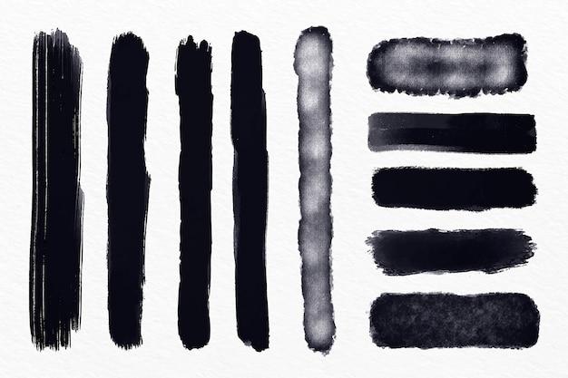 Inkt penseelstreek illustratie pack