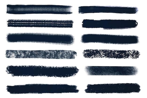 Inkt penseelstreek instellen illustratie