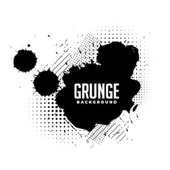 Inkt splatter grunge textuur met halftoon effect