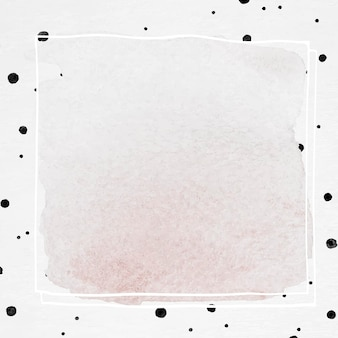 Inktkader met achtergrond met stippenborstelpatroon pattern
