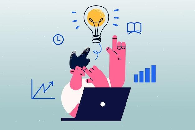 Innovatie opstarten en creatief idee concept
