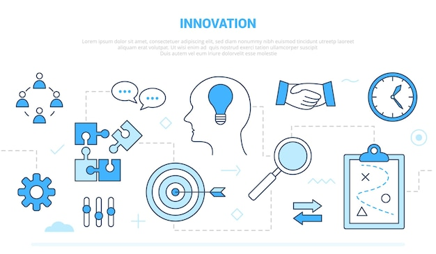 Innovatieconcept met team brainstorming idee uitvinding