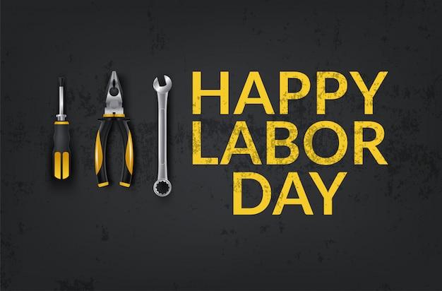 Innovatieve abstracte illustratie of poster, banner voor happy labor day, verkoopaanbieding ontwerpsjabloon