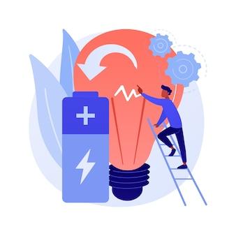 Innovatieve batterijtechnologie abstracte concept illustratie
