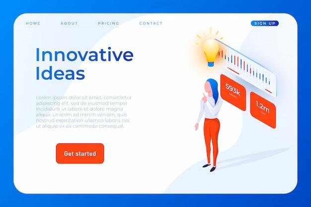 Innovatieve ideeën websjabloon