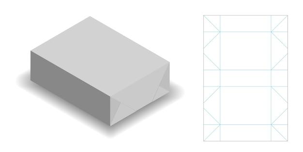 Inpakpapier voor zeepproduct met dieline