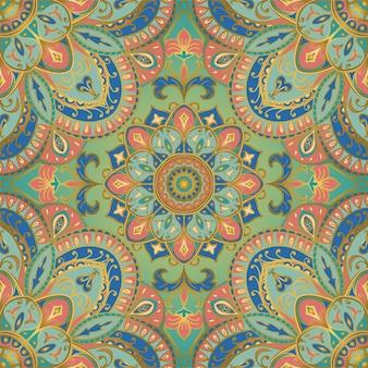 Inschrijving indiase patroon met mandala.
