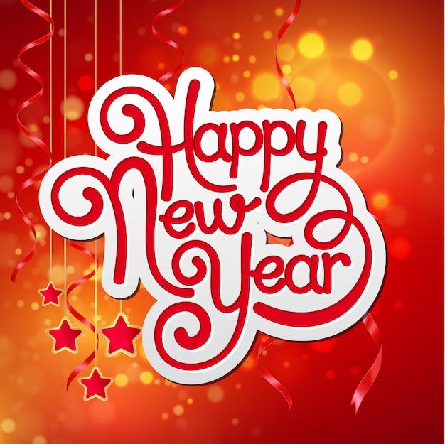 Inscriptie gelukkig nieuwjaar. vectorillustratie eps 10